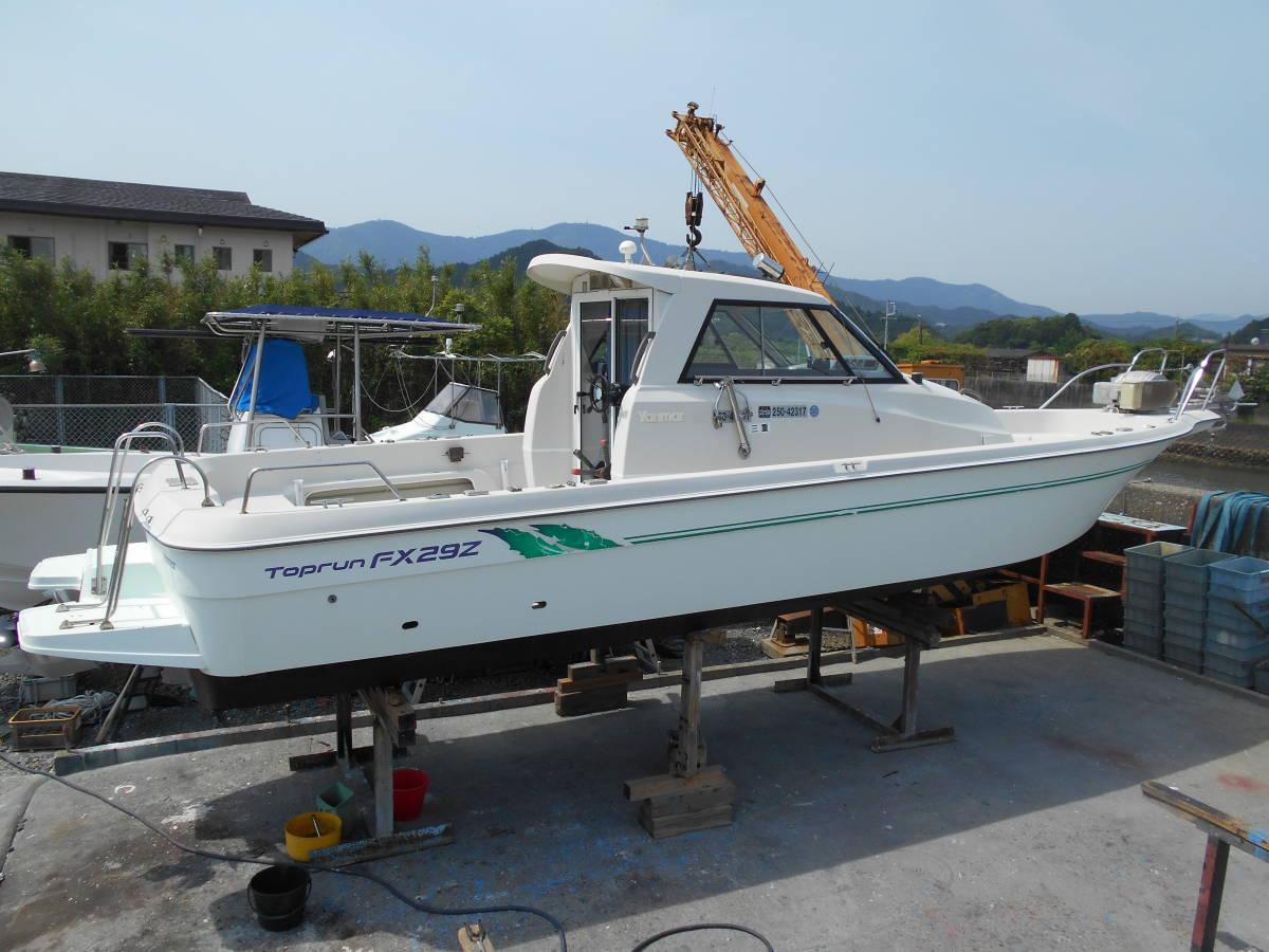 ☆ヤンマートップランFX29Z-IS(4LH-UTZAY・定格140ps・最大170ps)稼働382時間・極上艇!☆