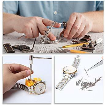 新品オレンジ E?Durable 腕時計工具 腕時計修理工具セット 電池 ベルト バンドサイズ調整 時計修理ツK6HW_画像8