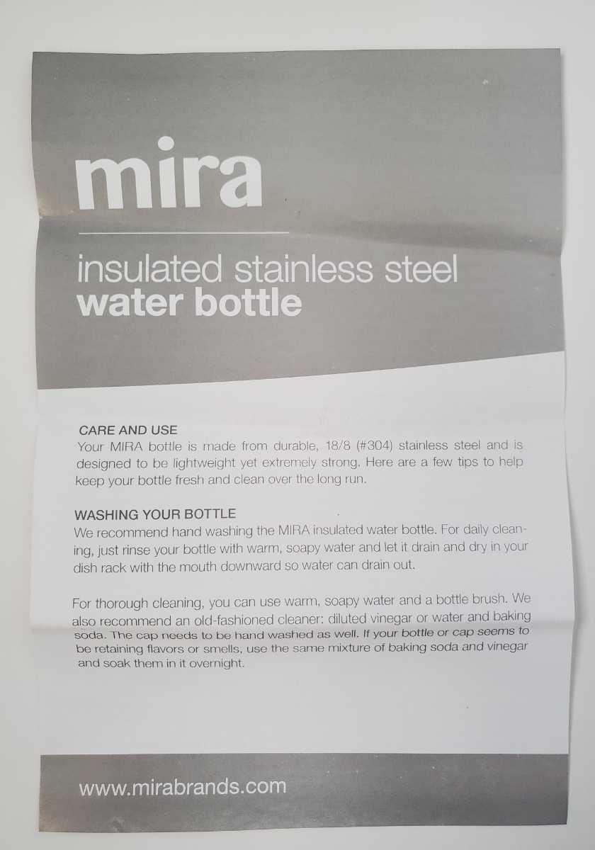 水筒 ステンレスボトル ウォーターボトル 真空断熱保温 保冷  500ml 17oz プルメリア mirabrand 新品未使用