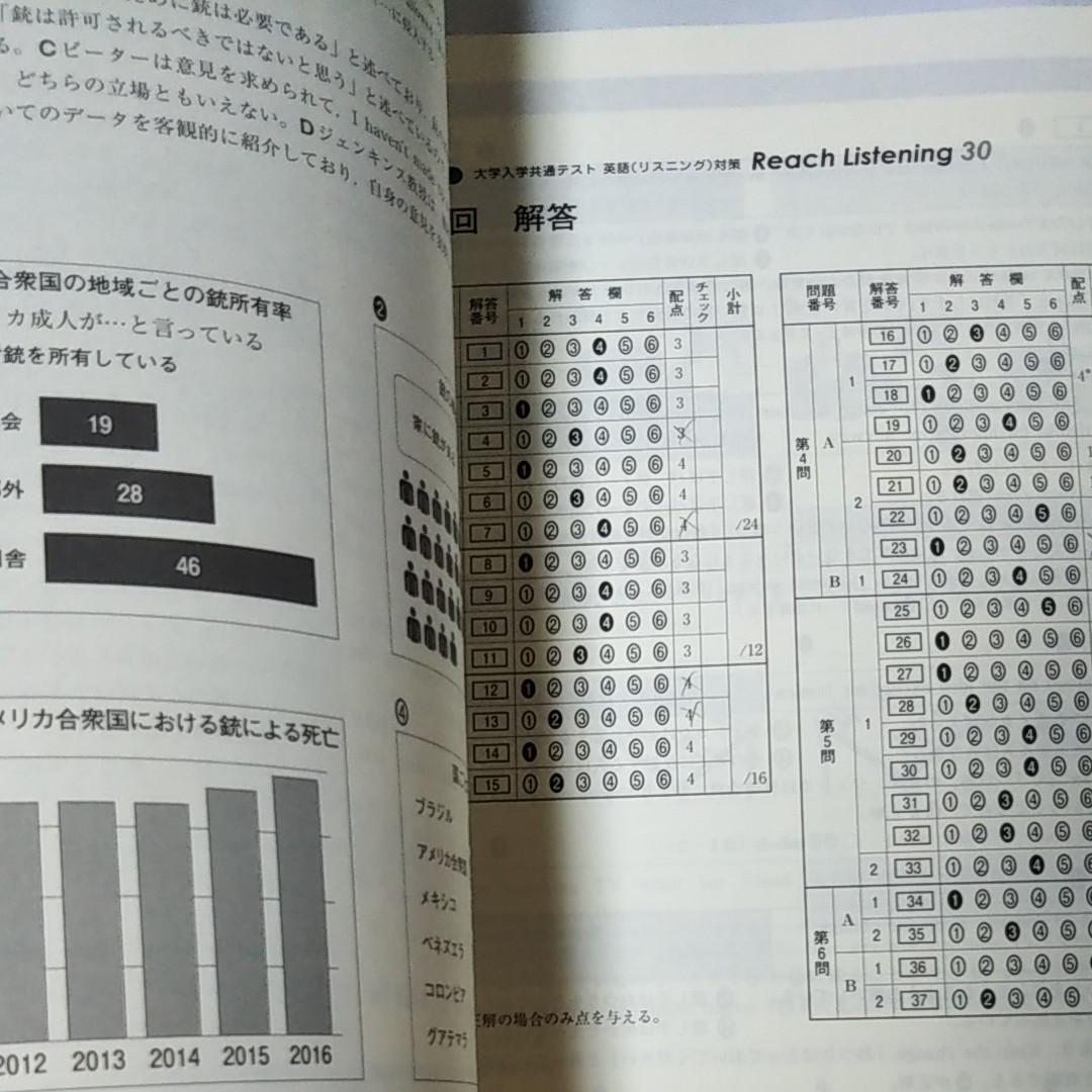 2021大学入学共通テスト 英語リスニング対策 リーチ30 未開封CD3枚付き