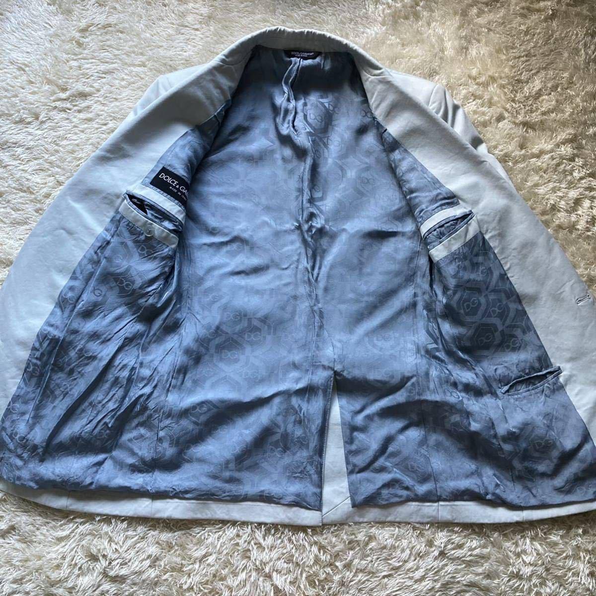 ドルチェ&ガッバーナ 「最高級の風格」DOLCE&GABBANA セットアップ 黒タグ ファッション スーツ 46 Mくらい ターコイズブルー 水色系_画像3