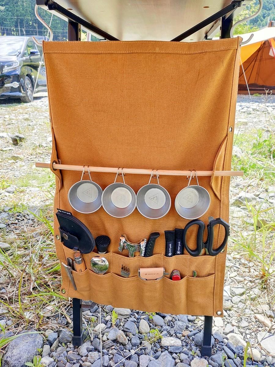 【価格を見直しました】カラトリーロールケース アウトドア キャンプ グランピング 食器収納 キッチンロールホルダー