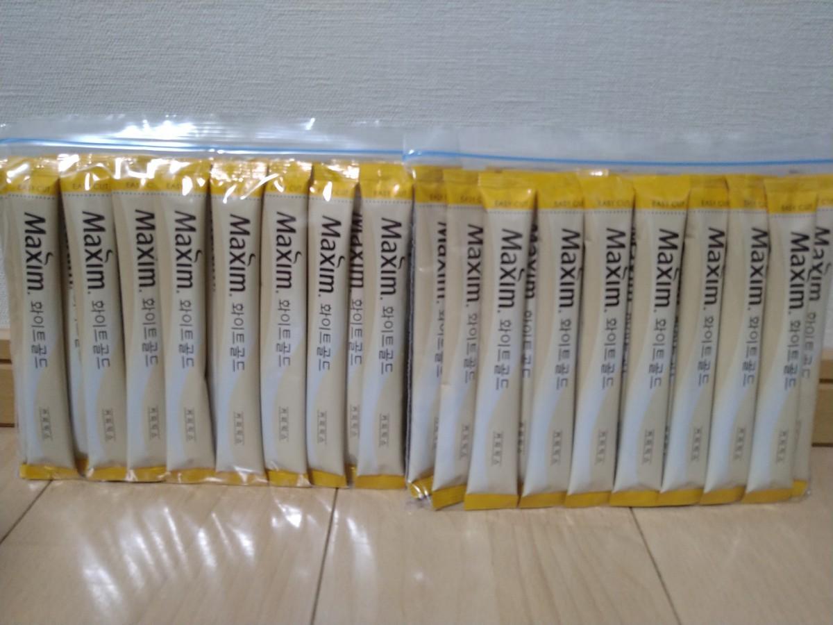 マキシムホワイトコーヒー 50本 スティックコーヒー 韓国