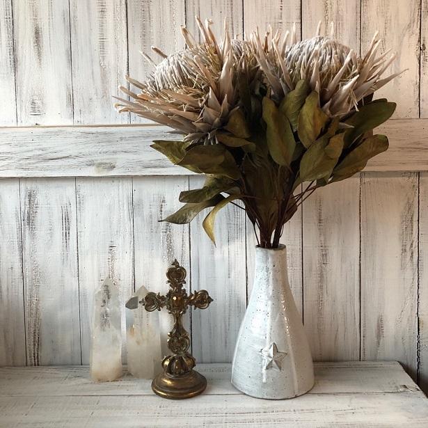 キングプロテア アークテックアイス 1本50cmドライフラワー花材 そのままインテリアやスワッグ 撮影小道具などに ワイルドフラワー_画像4