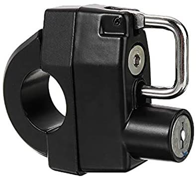 汎用 ハンドル 盗難防止 ヘルメットロック 鍵 パイプ 22mm スクーター ヘルメットホルダー キー 直径 防犯 バイク 25_画像1
