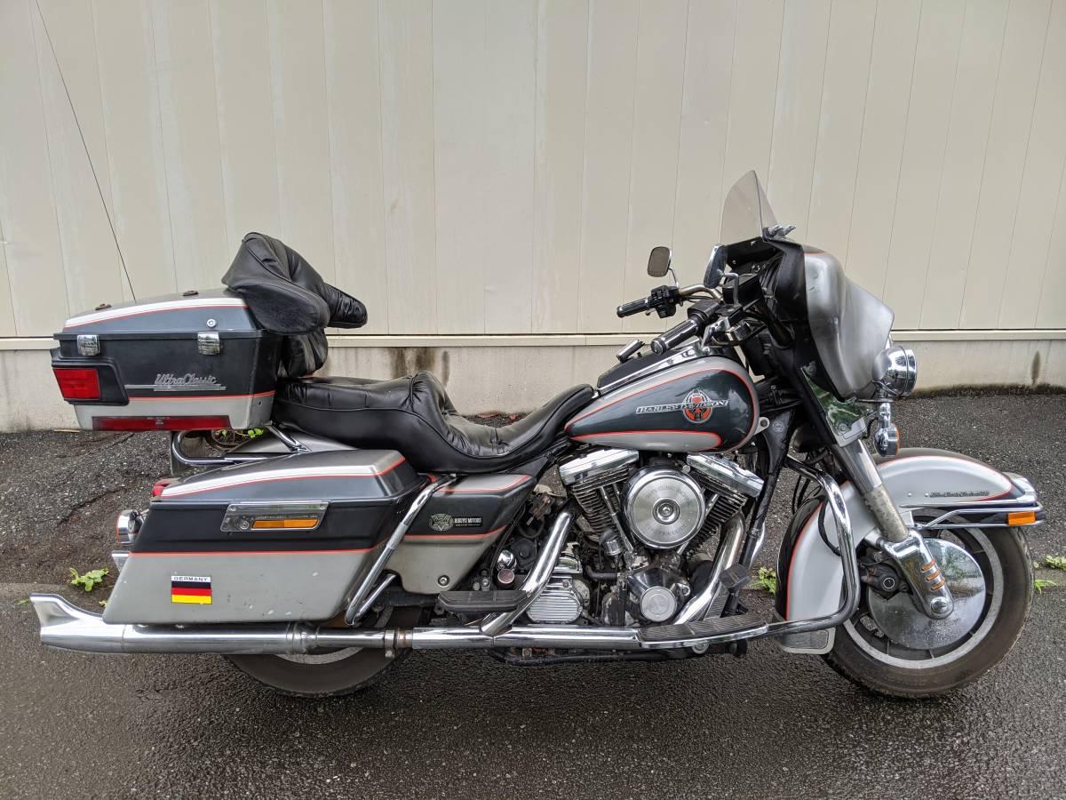 「HarleyDavidsonハーレーダビッドソンFLHTCU1340 90周年アニバ エレクトラグライド ウルトラクラシック エンジン可動ベース扱いで」の画像2
