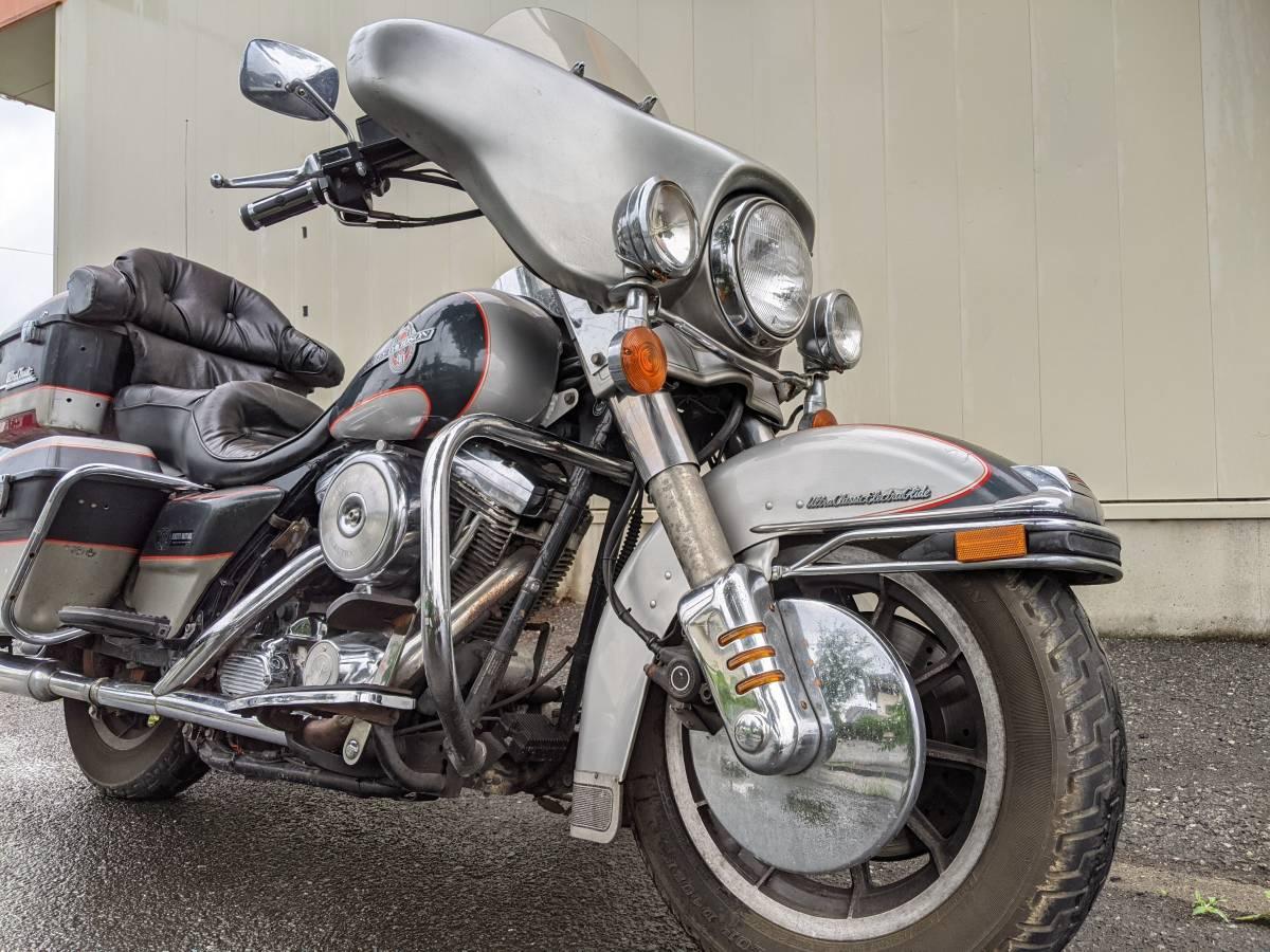 「HarleyDavidsonハーレーダビッドソンFLHTCU1340 90周年アニバ エレクトラグライド ウルトラクラシック エンジン可動ベース扱いで」の画像1
