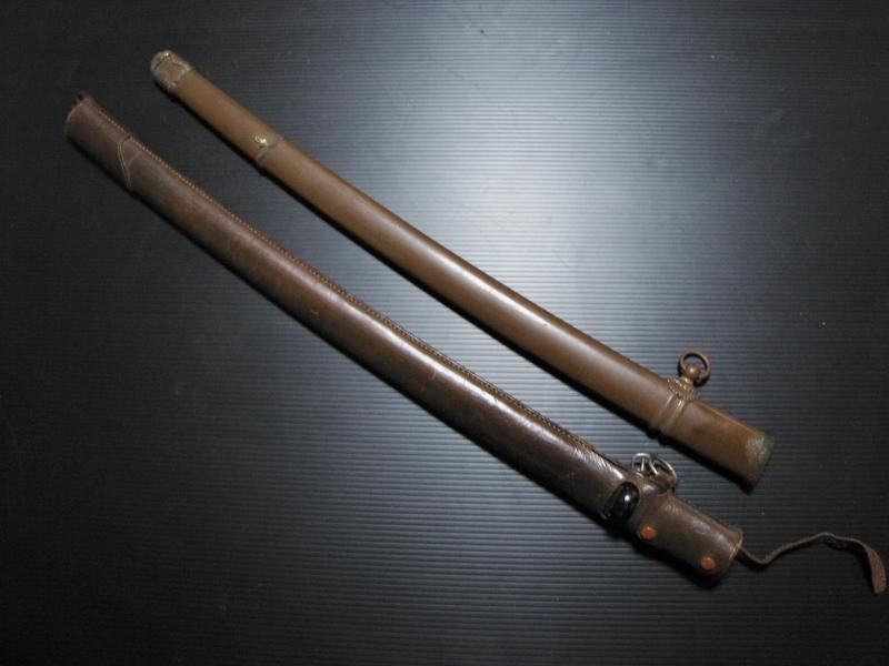 旧日本軍 陸軍将校 九八式軍刀 鞘 鉄鞘 64㎝ 略式軍刀鞘 68㎝ 良い状態 本物 当時物 軍隊 装備 軍刀部品