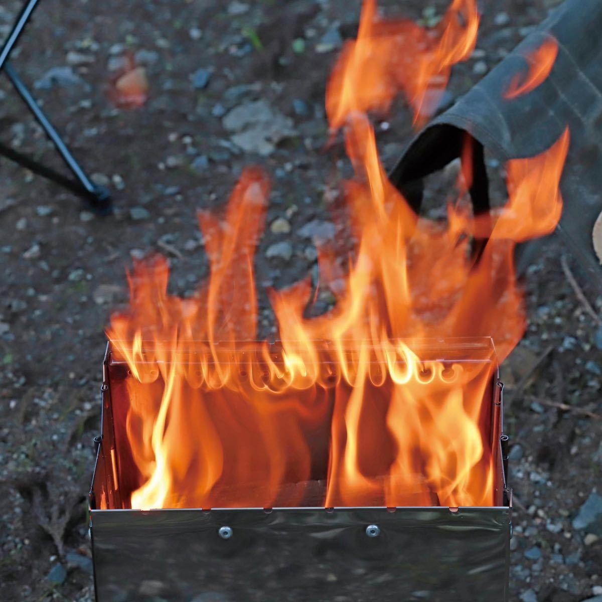 キャプテンスタッグ(CAPTAIN STAG) ファイアブーストストーブ 焚火台 二次燃焼 ステンレス 収納バッグ付き UG-82