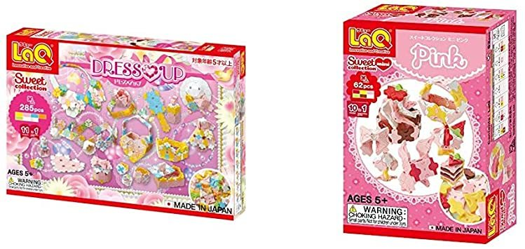 LaQ (ラキュー) スイートコレクション ドレスアップ & ラキュー (LaQ) スイートコレクション ミニ ピンク【_画像1