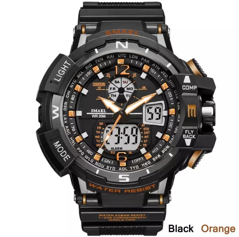 ◆最安最安 1円 Smael ウォッチ 腕時計 メンズ デジタル スポーツ 防水時計 クロノグラフ クォーツ 電子 軍事腕時計 男性 ledデジタル 1757_画像1