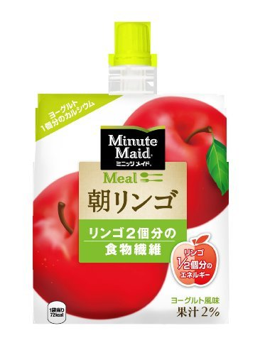 コカ・コーラ ミニッツメイド 朝リンゴ ゼリー飲料 パウチ 180g×6個_画像1