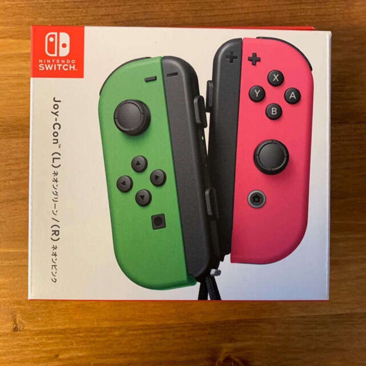 Nintendo Switch ジョイコン Joy-Con(L) ネオングリーン/(R) ネオンピンクのコントローラー出