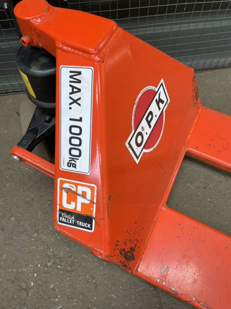 ○ OPK 低床型 ハンド パレットトラック 1000kg 1t リフト フォーク をくだ屋技研 【現状品】_画像2
