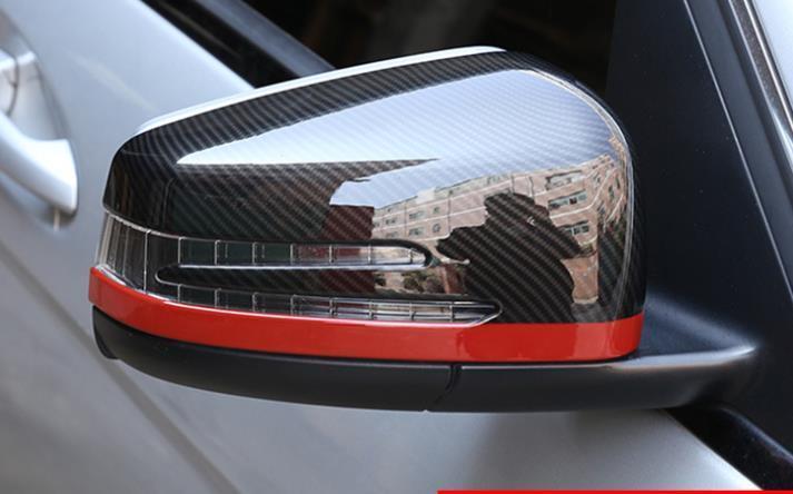 メルセデス ベンツ カーボン ルック ドアミラー カバー X204 GLK300 GLK350 GLKクラス レッドライン_画像1