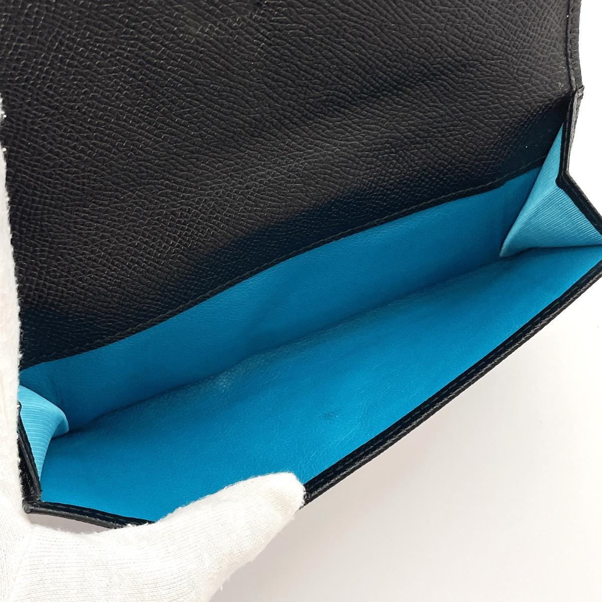 良品♪♪(BVLGARI ブルガリ)長財布 30416 ブルガリ ブルガリ レザー ブラック&ブルー【送料無料&保存箱付き】イタリア製★_画像9