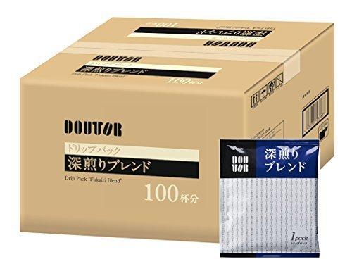 新品 即決★100PX1箱 ドトールコーヒー ドリップパック 深煎りブレンド100P_画像1