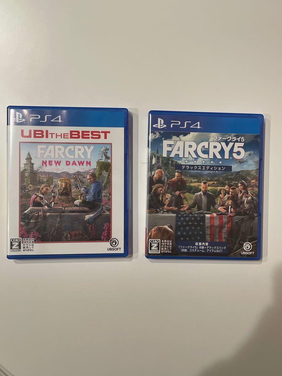 【極美品】  ファークライ ニュードーン ファークライ5 FARCRY デラックスエディション 2枚セット PS4
