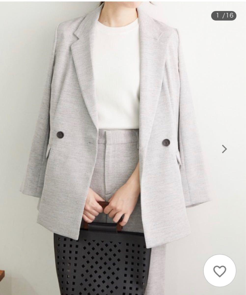 テーラードジャケット (麻調BIGシルエットジャケット)