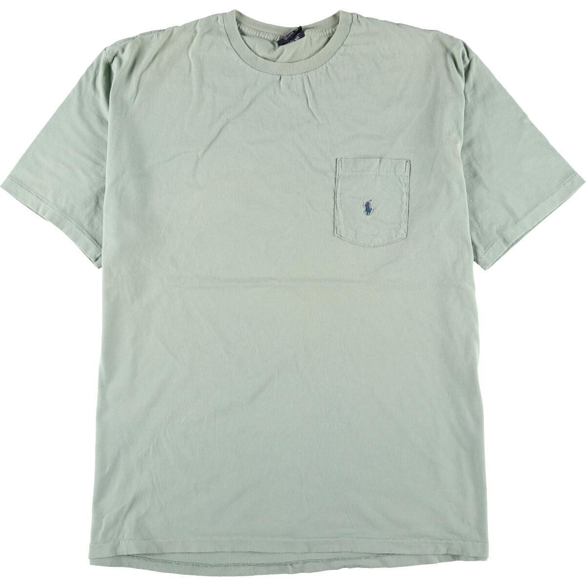 90年代 ラルフローレン POLO by Ralph Lauren 半袖 ワンポイントロゴポケットTシャツ USA製 メンズXL ヴィンテージ /eaa168347_画像1