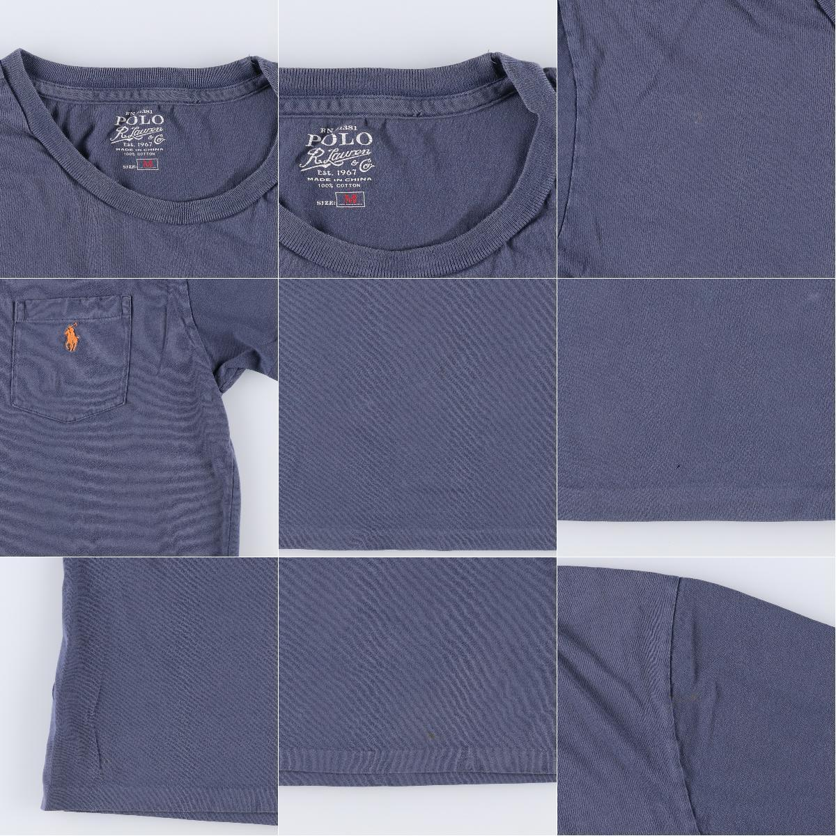 ラルフローレン Ralph Lauren POLO by Ralph Lauren 半袖 ワンポイントロゴポケットTシャツ メンズL /eaa168349_画像3