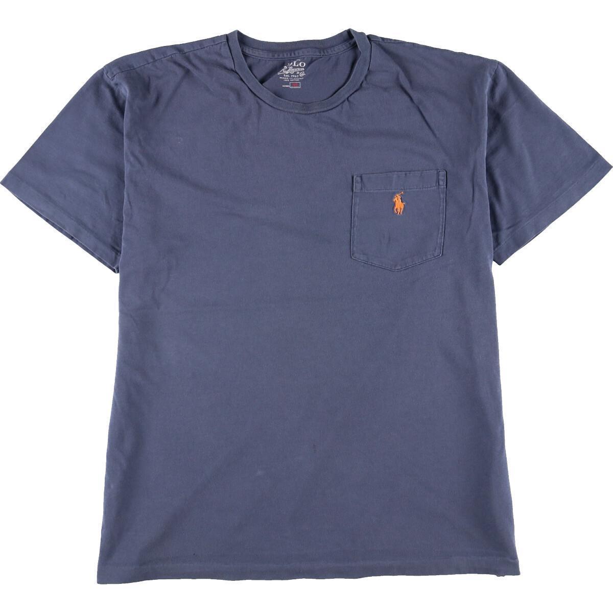 ラルフローレン Ralph Lauren POLO by Ralph Lauren 半袖 ワンポイントロゴポケットTシャツ メンズL /eaa168349_画像1