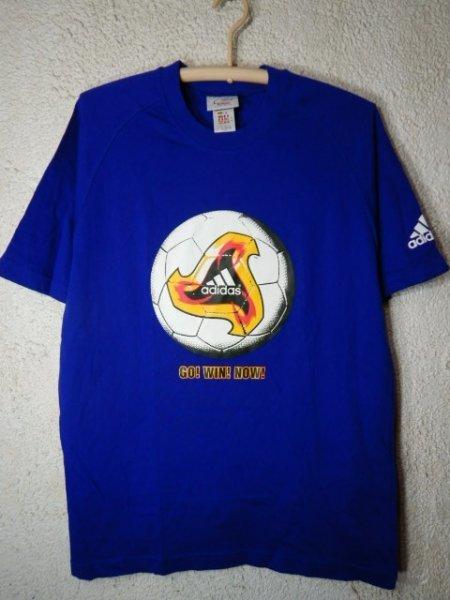 to2981 adidas KIRIN アディダス キリン 2002年 00s vintage ビンテージ tシャツ サッカー ボール ワールドカップ デザイン_画像1