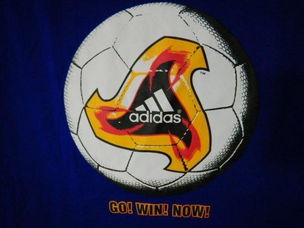 to2981 adidas KIRIN アディダス キリン 2002年 00s vintage ビンテージ tシャツ サッカー ボール ワールドカップ デザイン_画像3