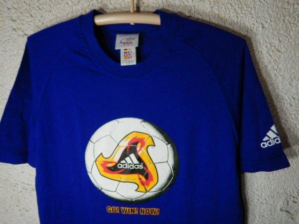 to2981 adidas KIRIN アディダス キリン 2002年 00s vintage ビンテージ tシャツ サッカー ボール ワールドカップ デザイン_画像2