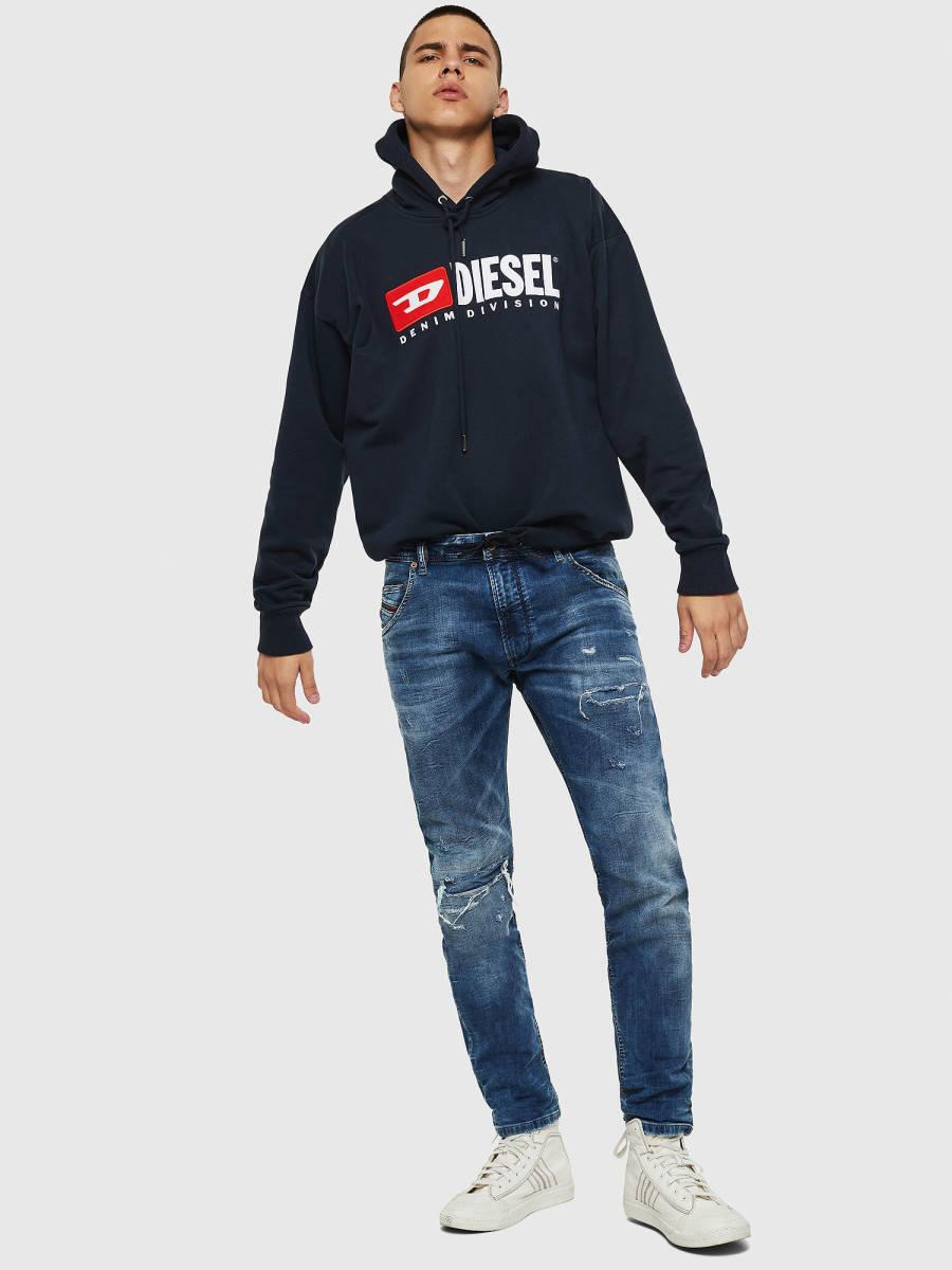 《新品 未使用/タグ付き/20-21新作/定価49,500円》adm DIESEL ディーゼル メンズ Krooley JoggJeans スウェット デニム ジョグ ジーンズ
