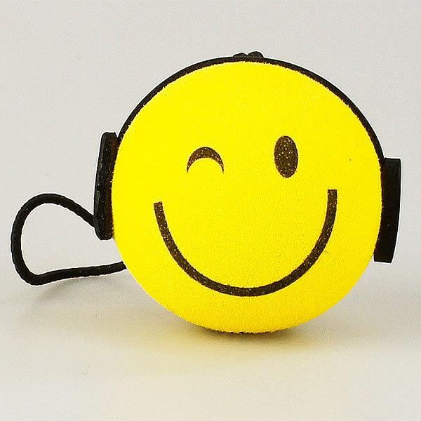 スマイル DJ アンテナボール アンテナトッパー ヘッドホン クラブ 車 目印 カスタム USA アメ雑 【メール便OK】_画像1