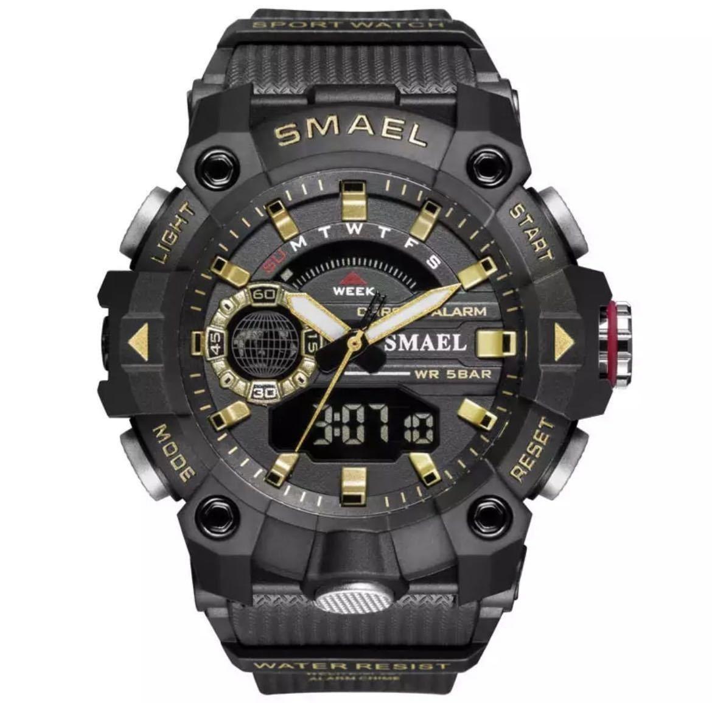 ◆ ミリタリー ウォッチ メンズ スポーツ 防水 腕時計 ストップウォッチ アラーム ledライト デジタル腕時計 メンズスポーツ時計 1738_画像1