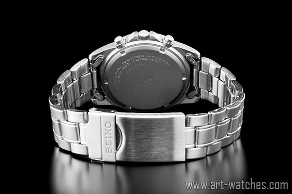 【1円開始】セイコー 海外 SEIKO ミリタリー ブルー 100m防水 クロノグラフ 新品 腕時計_画像3