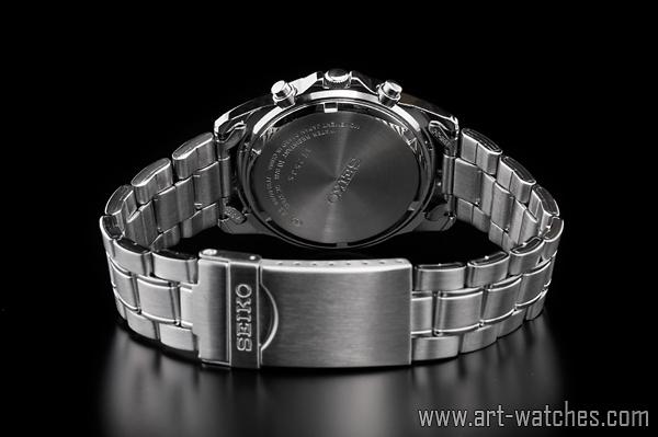 【1円開始】セイコー 逆輸入 ネイビー&ホワイト 新品 1/20秒 クロノグラフ 腕時計_画像3