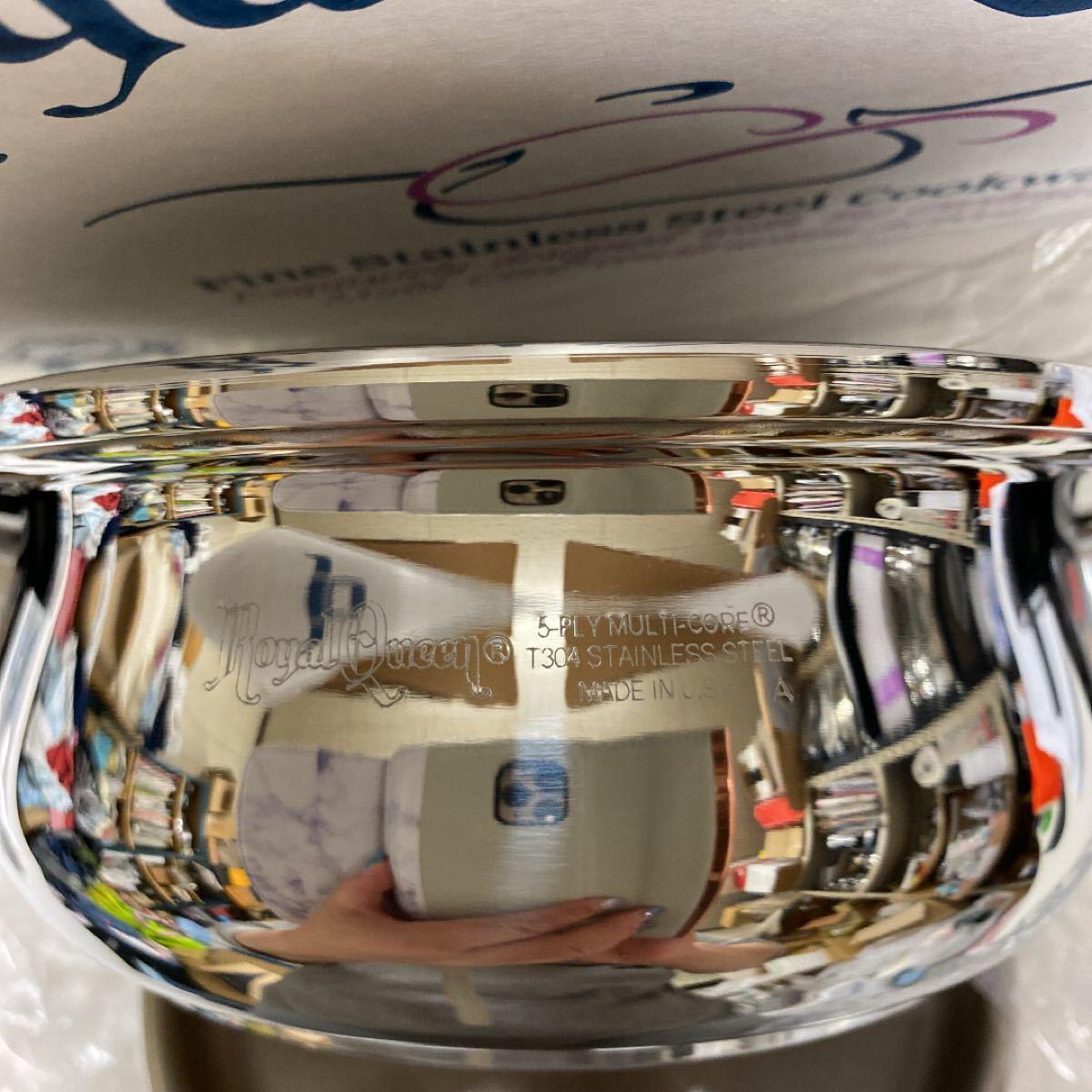 ロイヤルクイーン 【IH対応品】 1コート蓋付き 片手鍋用取手1本付き 未使用品