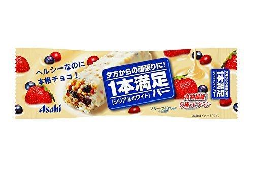 新品アサヒグループ食品 1本満足バー シリアルホワイト 1本×9個YOV2_画像1
