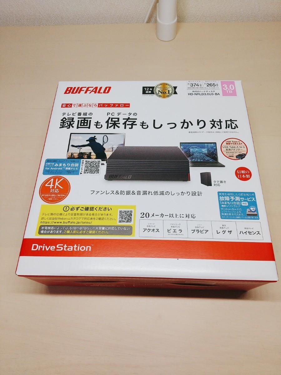 BUFFALO 外付けHDD 3TB USB3.1/USB3.0用(ひかりTV動作確認済) HD-NRLD3.0U3-BA
