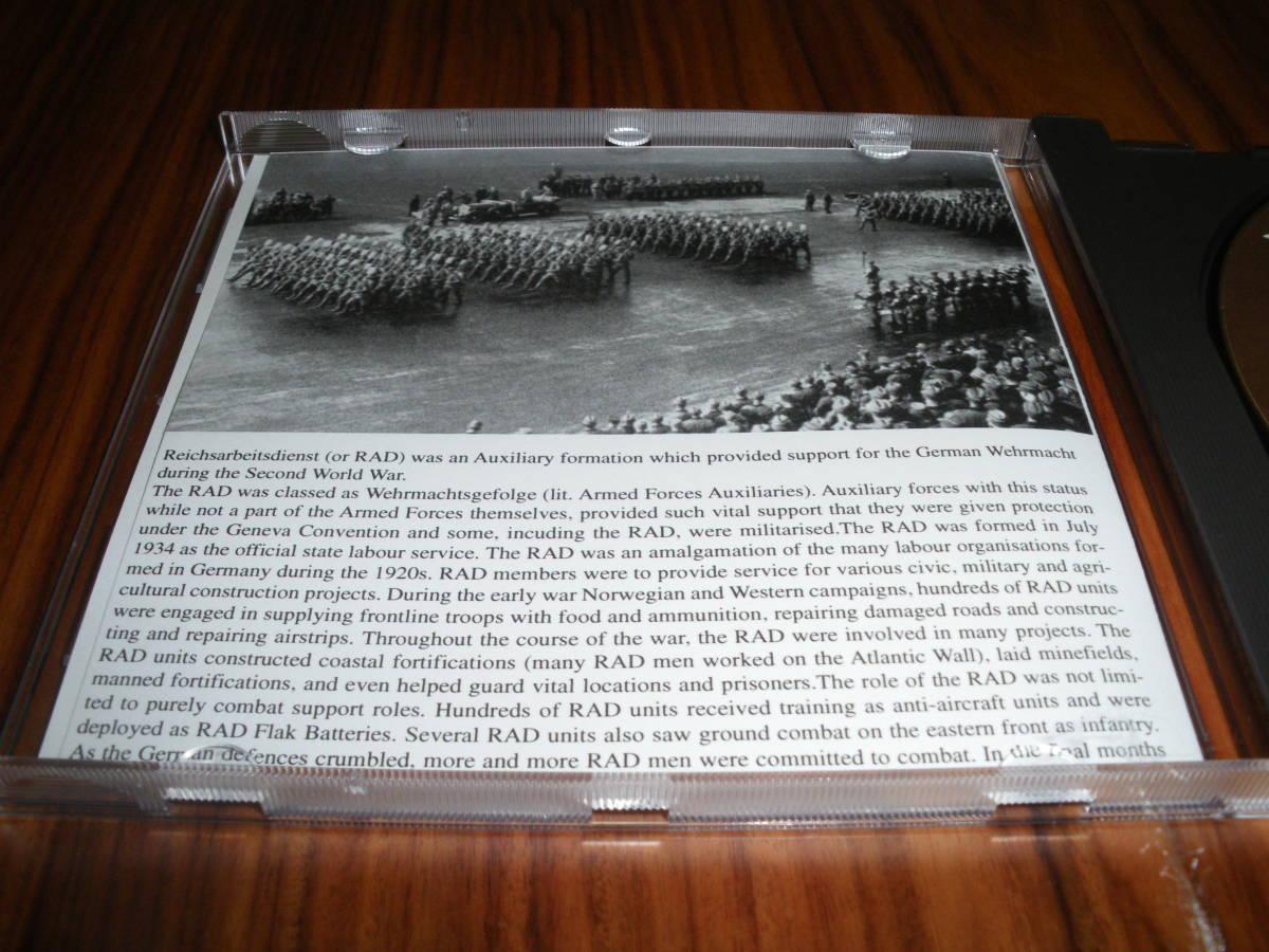 ドイツ軍歌 ドイツ行進曲 ナチス軍歌CD「WW2 RAD Military Marches」 海外版 ヘルムス・ニール指揮 ナチス党歌など_画像3