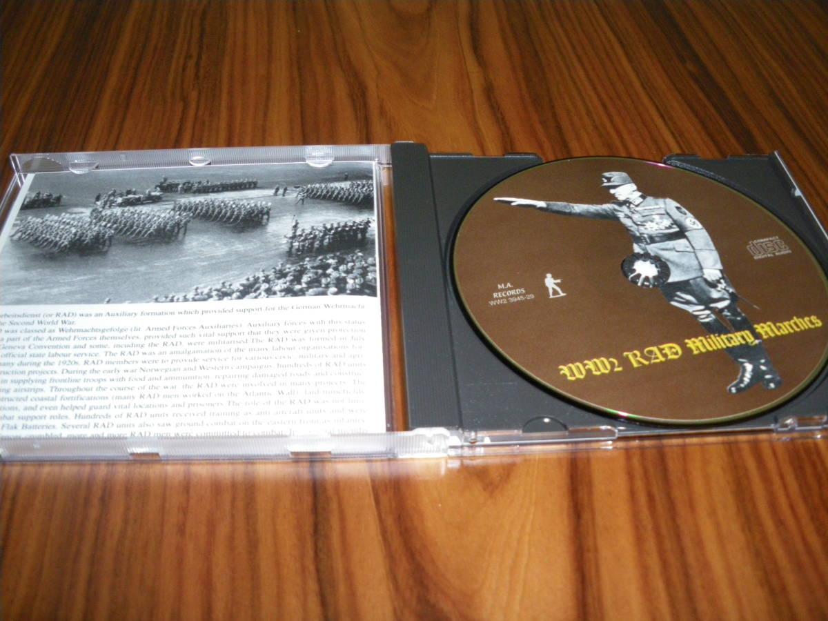 ドイツ軍歌 ドイツ行進曲 ナチス軍歌CD「WW2 RAD Military Marches」 海外版 ヘルムス・ニール指揮 ナチス党歌など_画像2