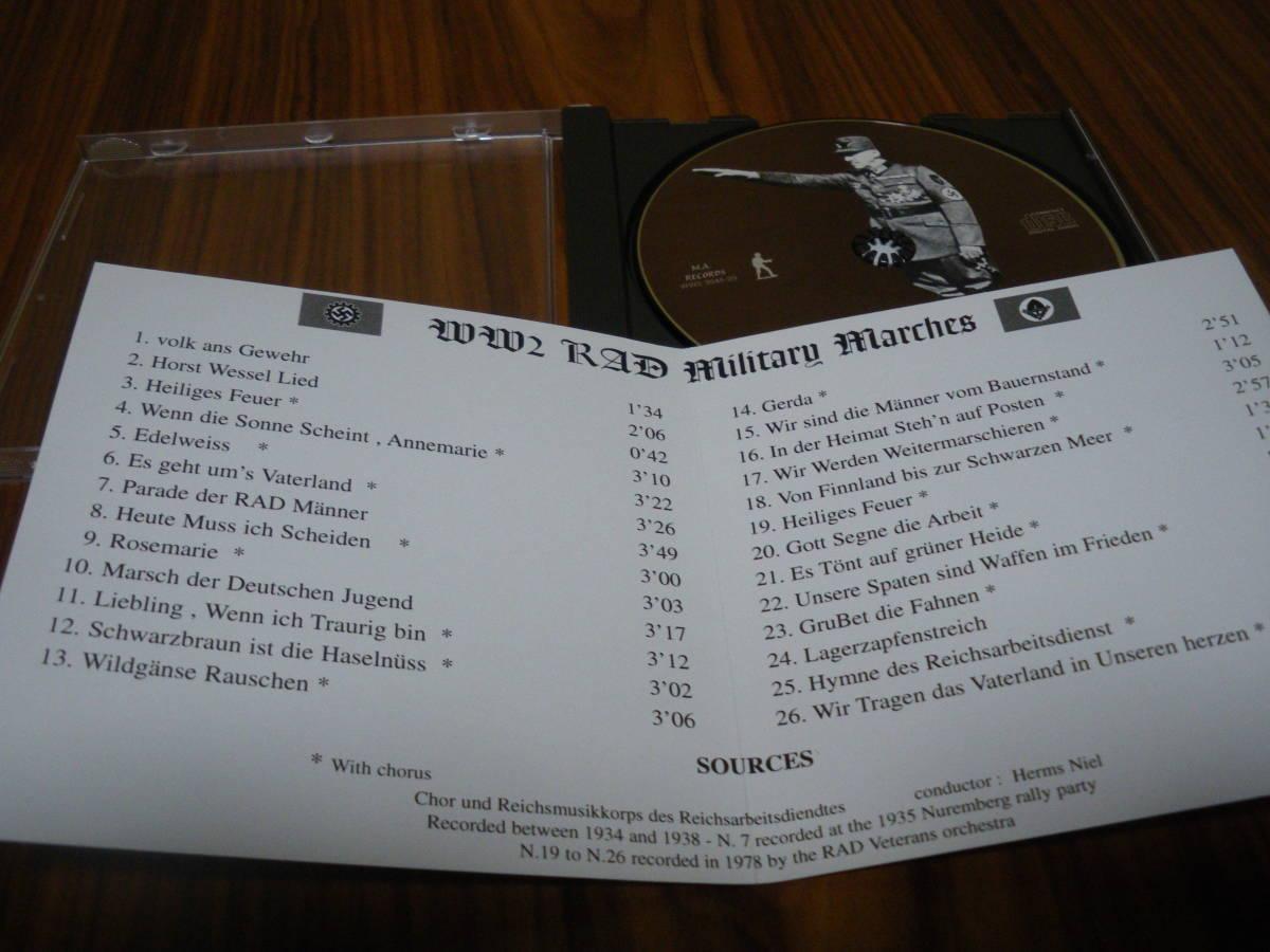 ドイツ軍歌 ドイツ行進曲 ナチス軍歌CD「WW2 RAD Military Marches」 海外版 ヘルムス・ニール指揮 ナチス党歌など_画像4