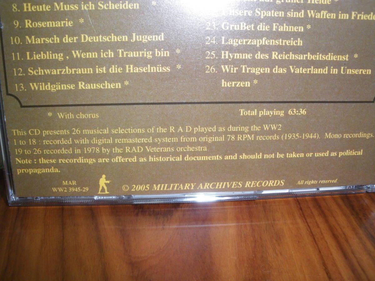 ドイツ軍歌 ドイツ行進曲 ナチス軍歌CD「WW2 RAD Military Marches」 海外版 ヘルムス・ニール指揮 ナチス党歌など_画像8