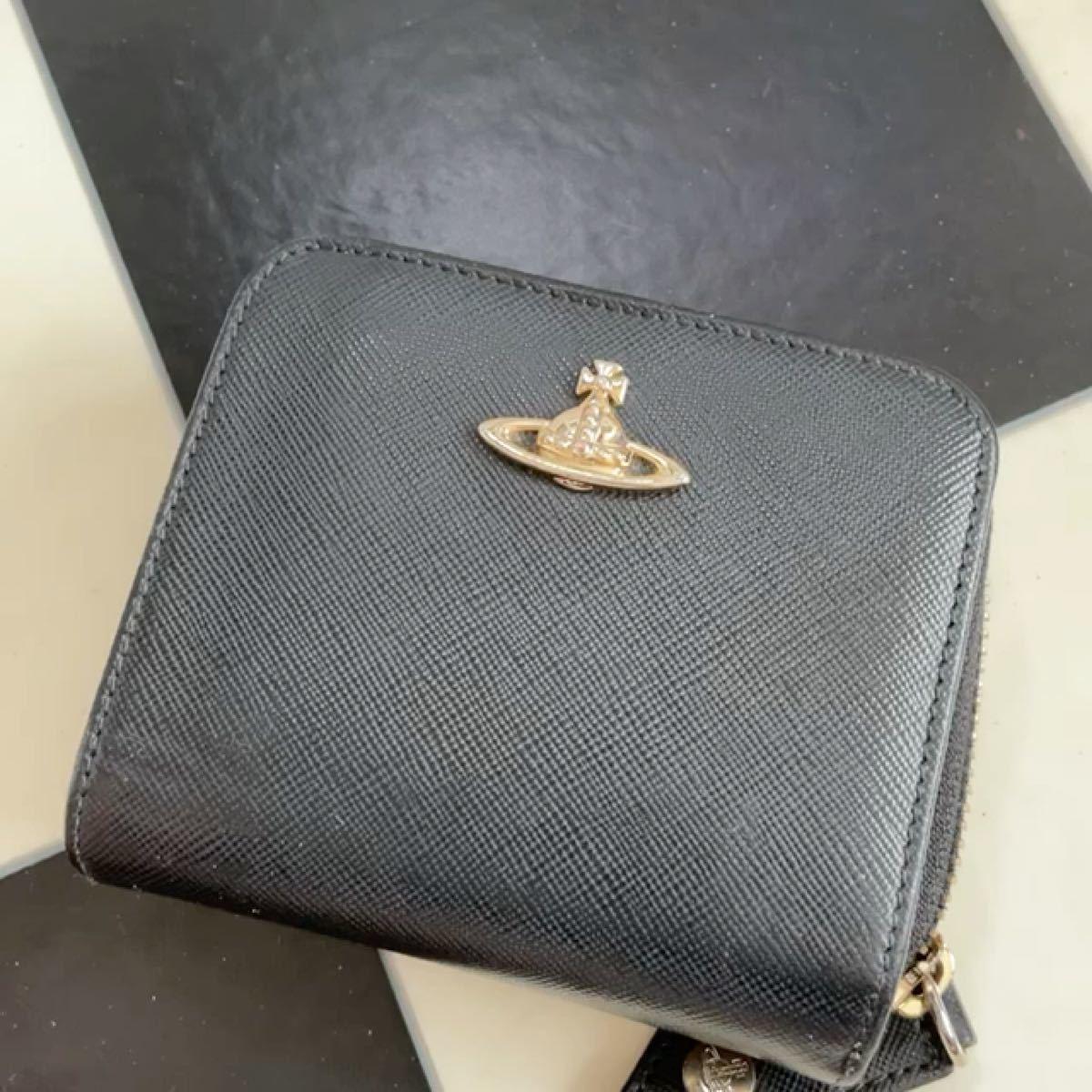 ヴィヴィアンウエストウッド 折り財布 レディース 黒色