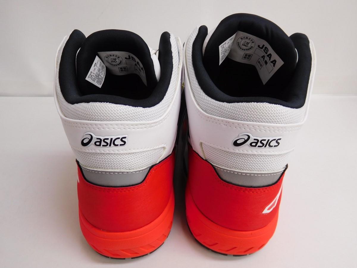 140Z538★【未使用品】asics 安全靴 WINJOB CP304 BOA ホワイト/ブラック レッド 【27センチ】 アシックス/ウィンジョブ/プロスニーカー