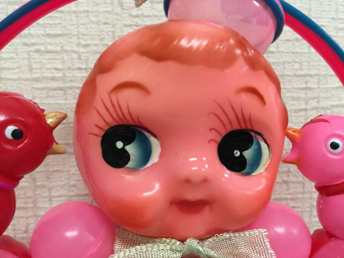 昭和レトロ  セルロイド 起き上がりこぼし ガラガラ 当時物 おもちゃ屋さん 蔵出し 高さ17.5cm・横17.5cm  A8.2   SSS