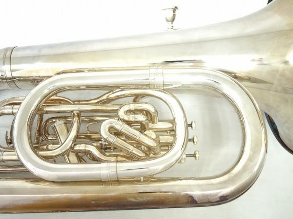 BESSON BE981 チューバ シルバー系 マウスピース 2個 管楽器 ケース付き 金管楽器 中古 直 O5667252_画像7