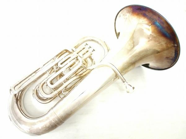 BESSON BE981 チューバ シルバー系 マウスピース 2個 管楽器 ケース付き 金管楽器 中古 直 O5667252_画像1