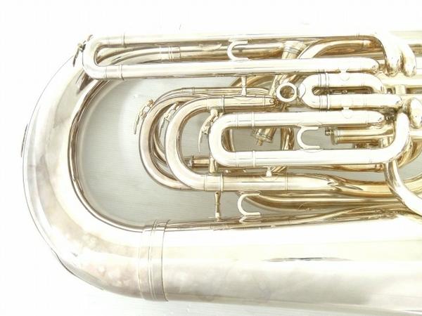 BESSON BE981 チューバ シルバー系 マウスピース 2個 管楽器 ケース付き 金管楽器 中古 直 O5667252_画像4