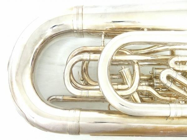 BESSON BE981 チューバ シルバー系 マウスピース 2個 管楽器 ケース付き 金管楽器 中古 直 O5667252_画像6