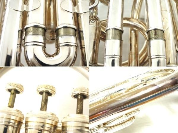 BESSON BE981 チューバ シルバー系 マウスピース 2個 管楽器 ケース付き 金管楽器 中古 直 O5667252_画像10