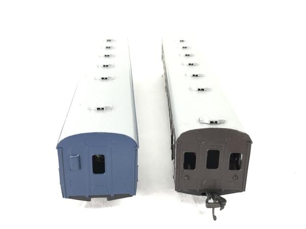 HOWA ナロ 10 青 茶 2両 HOゲージ 鉄道模型 ジャンク S5705107_画像2